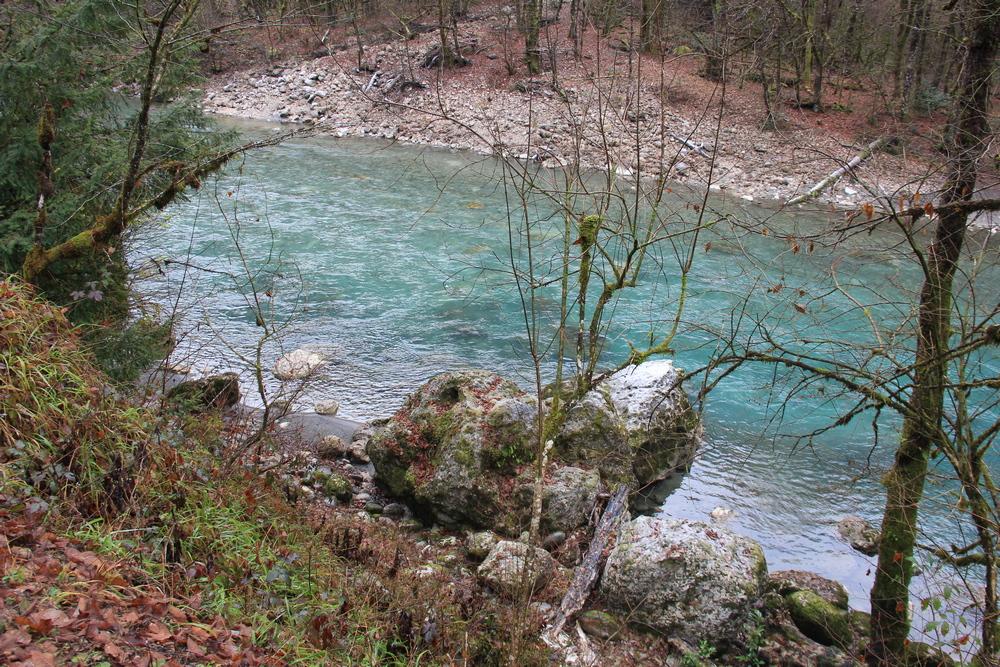 Только в Абхазии реки имеют такой цвет.
